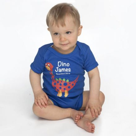 Personalised 'Dino' Baby Grow With Name